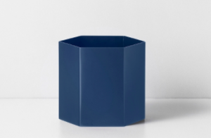 Dark Blue Hexagon Pot