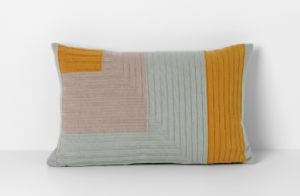 Angle Knit Cushion in Curry